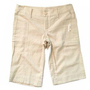 new ꧁ LaRok ꧁ Lurex Thread Cargo Shorts ꧂ Gold ꧂